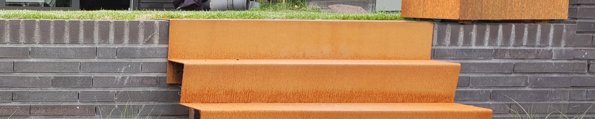 Treppen aus Cortenstahl