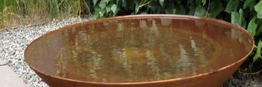 Wasserschalen aus Cortenstahl