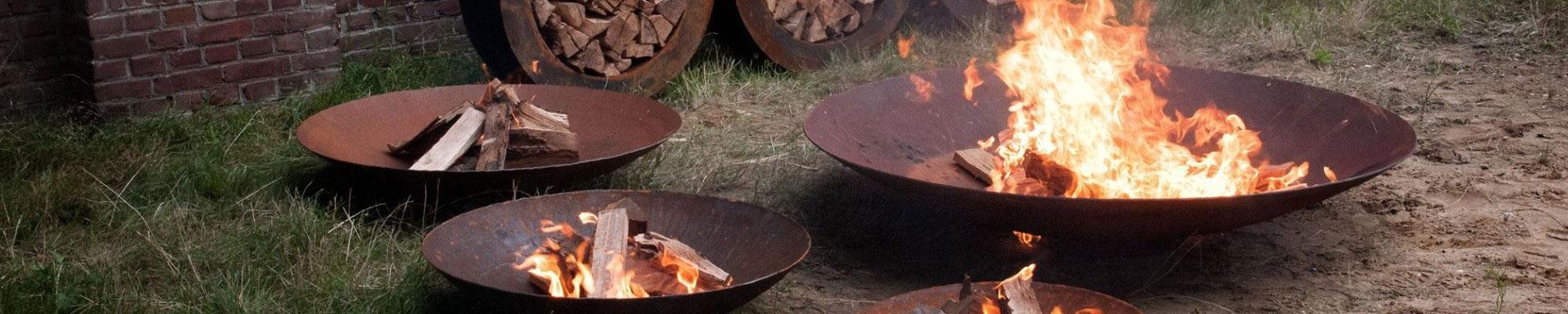 Feuerschalen aus Cortenstahl