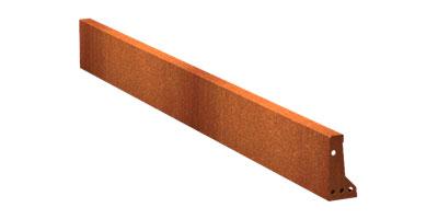 Stützmauern/Cortenstahl Höhe 200 mm