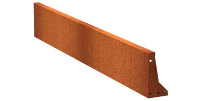 Stützmauern/Cortenstahl Höhe 400 mm