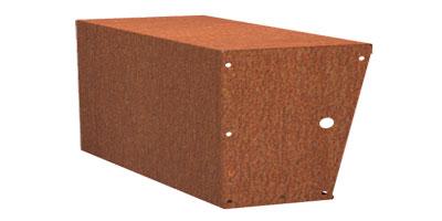 Stützmauern breit/Cortenstahl Höhe 600 mm