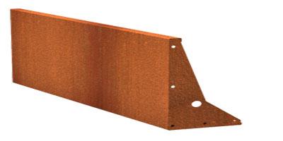 Stützmauern/Cortenstahl Höhe 600 mm