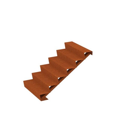 Cortenstahl Treppe 6 Stufen (Weitere Größen