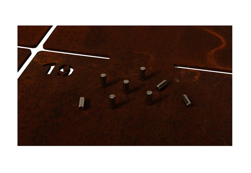 Magnetwand aus Cortenstahl