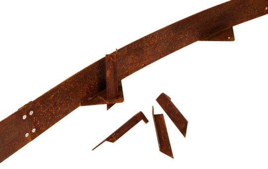 Beetabgrenzung aus Cortenstahl/ Edelrost1009/150 mm