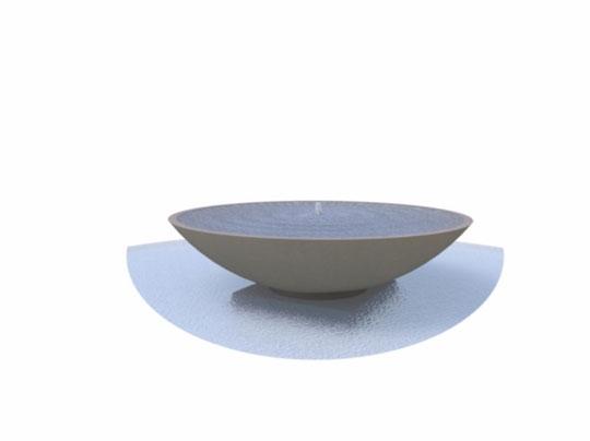 Wasserschale Polymerbeton rund