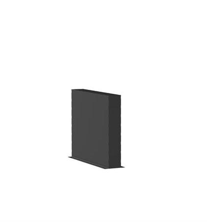 Aluminiumwände Länge 1m (weitere Größen)