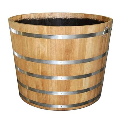 Holzzuber Hartholz Pflanzgefäße