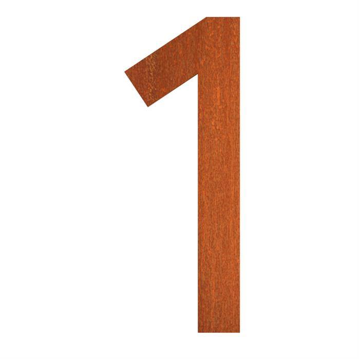 Hausnummer 1 Cortenstahl