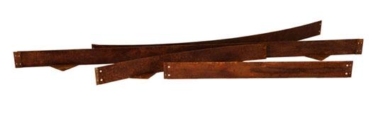 beetabgrenzung aus cortenstahl edelrost1009 80mm beetabgrenzungen holz
