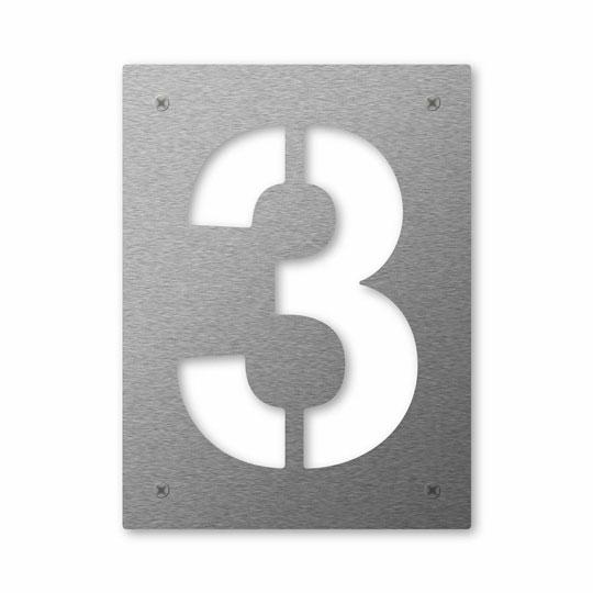 Hausnummer Cut 3