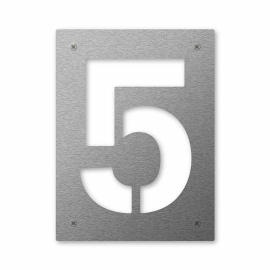 Hausnummer Cut 5