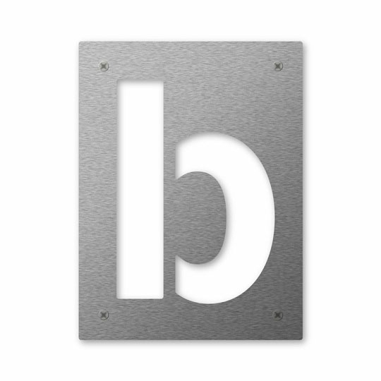 Hausnummer Cut b