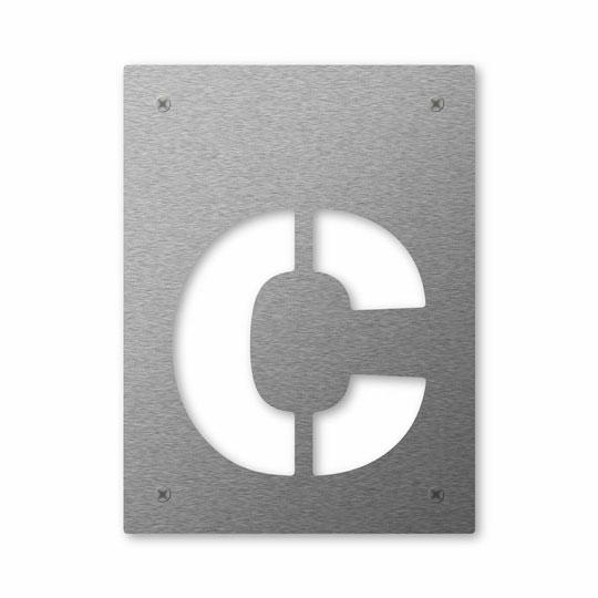 Hausnummer Cut c