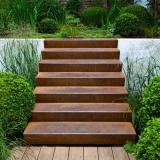Cortenstahl Treppe  4 Stufen (Weitere Größen)