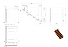 Cortenstahl Treppe 7 Stufen (Weitere Größen)