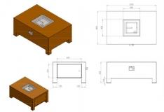 Brann Gaskamin Corten VBC1/1200x800x500 mm