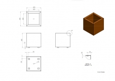 Corten Stahl Andes CA10 400x400x400mm