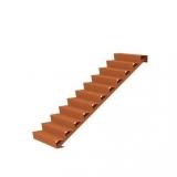 Cortenstahl Treppe 11 Stufen(Weitere Größen)