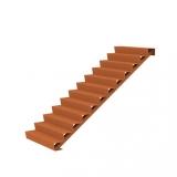 Cortenstahl Treppe 12 Stufen(Weitere Größen)