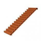 Cortenstahl Treppe 14 Stufen(Weitere Größen)
