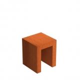 Cortenstahl U-Sockel 500x500x600mm