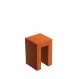 Cortenstahl U-Sockel 400x400x600mm