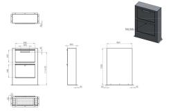 Briefkasten Paca Aluminium PPA1