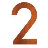 Hausnummer 2 Cortenstahl