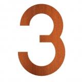 Hausnummer 3 Cortenstahl