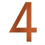 Hausnummer 4 Cortenstahl