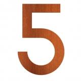Hausnummer 5 Cortenstahl