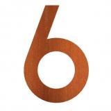 Hausnummer 6 Cortenstahl