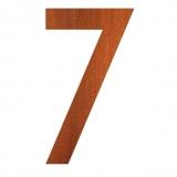 Hausnummer 7 Cortenstahl