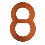Hausnummer 8 Cortenstahl