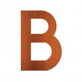 Hausnummer B Cortenstahl
