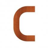 Hausnummer C Cortenstahl