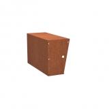 Stützmauern breit aus Cortenstahl 1000x400x600 mm