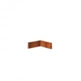 Stützmauer/Innenecke aus Cortenstahl 500x500x200 mm