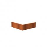 Stützmauer Außenecke aus Cortenstahl 1000x1000x300 mm