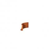 Stützmauer Innenbogen aus Cortenstahl 500x500x300 mm