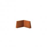 Stützmauer Innenecke aus Cortenstahl 500x500x400 mm