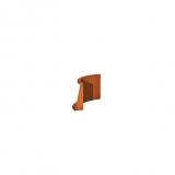 Stützmauer Innenbogen aus Cortenstahl 500x500x400 mm