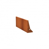 Stützmauern aus Cortenstahl 1500x50x600 mm