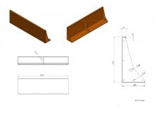 Stützmauern aus Cortenstahl 2000x50x600 mm