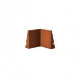 Stützmauer Innenecke aus Cortenstahl 500x500x600 mm