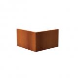Stützmauer Außenecke aus Cortenstahl 1000x1000x600 mm