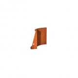 Stützmauer Innenbogen aus Cortenstahl 500x500x600 mm