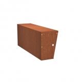 Stützmauern breit aus Cortenstahl 1500x400x600 mm